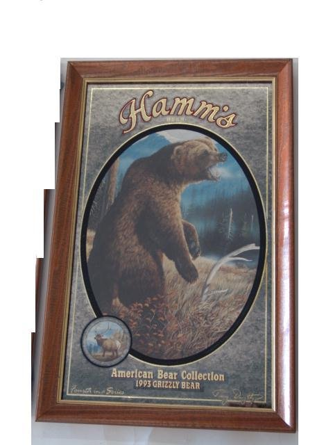 66: SET OF FOUR HAMM'S BEER ADVERTISING BEAR MIRRORS - 4