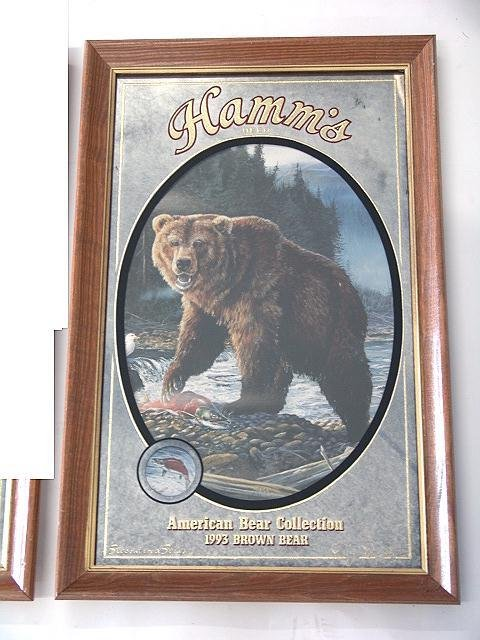 66: SET OF FOUR HAMM'S BEER ADVERTISING BEAR MIRRORS - 6