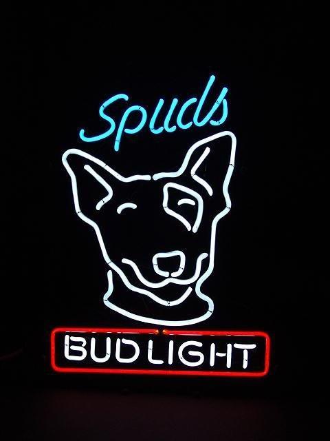149: BUD LIGHT BEER SPUDS MACKENZIE FIGURAL NEON SIGN - 2