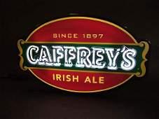 227 CAFFREYS IRISH ALE BEER LIGHTED ADVERTISING NEON