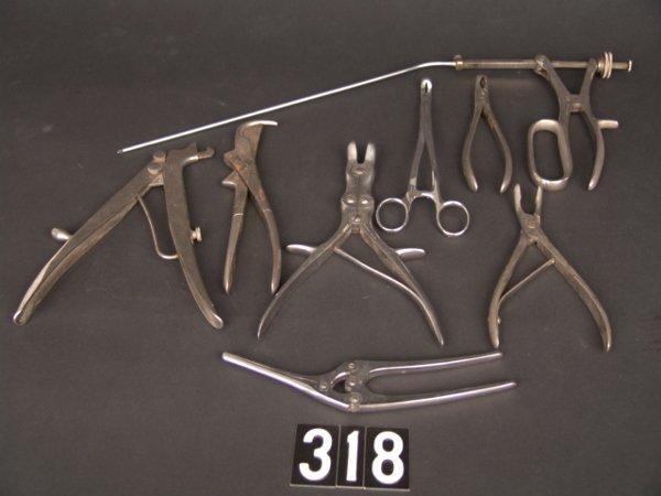 318: LOT ANTIQUE MEDICAL INSTRUMENTS: THOMAS ORR M.D. E