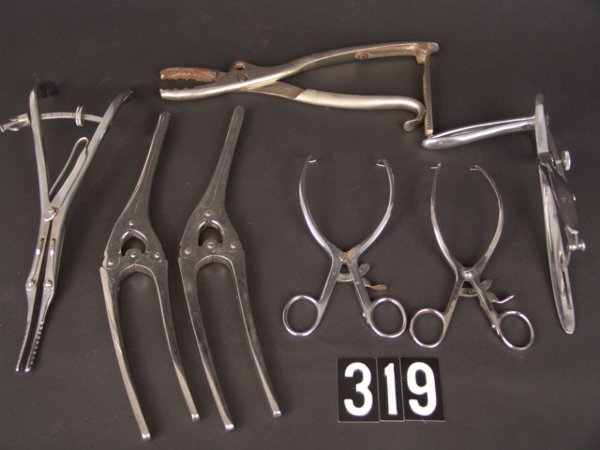 319: LOT ANTIQUE MEDICAL INSTRUMENTS: THOMAS ORR M.D. E