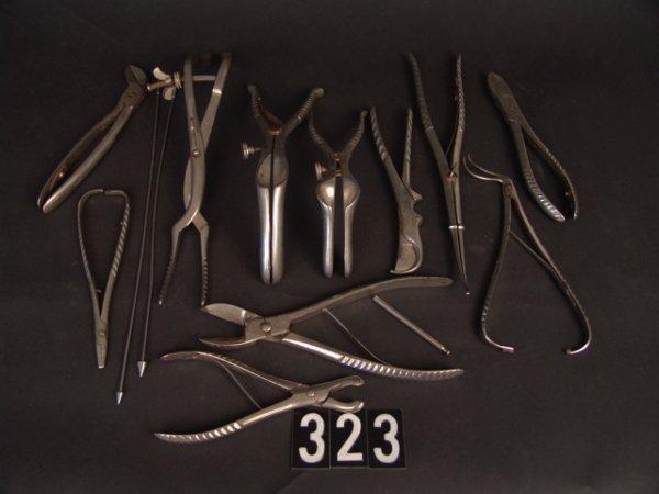 323: LOT ANTIQUE MEDICAL INSTRUMENTS: THOMAS ORR M.D. E