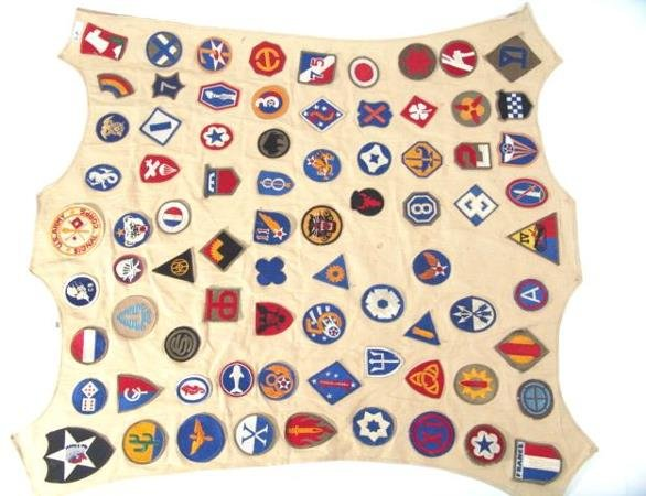 343: COLLECTION OF 78 DIFFERENT WWII PATCHES: SOME GOOD