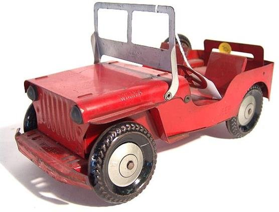 1321: WILLYS JEEP PRESSED STEEL TOY