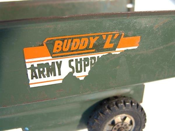1368: BUDDY L ARMY SUPPLY CORPS PRESSED STEEL TOY TRUCK - 5