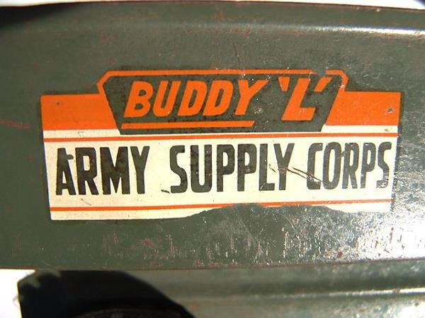 1368: BUDDY L ARMY SUPPLY CORPS PRESSED STEEL TOY TRUCK - 6