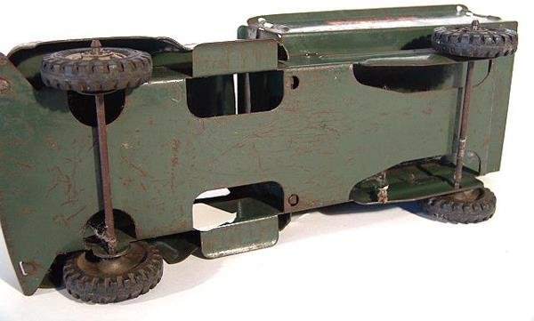 1368: BUDDY L ARMY SUPPLY CORPS PRESSED STEEL TOY TRUCK - 7