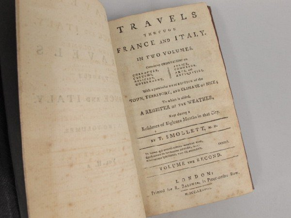 Smollett, T. TRAVELS THROUGH FRANCE AND ITALY, 1778