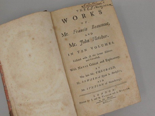 1750 EDITION OF THE WORKS OF MR. FRANCIS BEAUMONT AND M