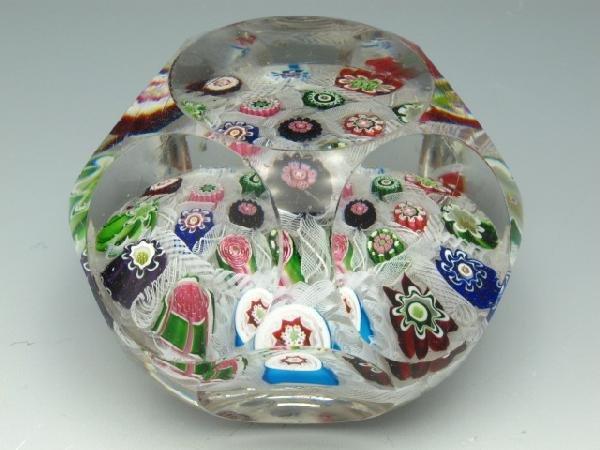 19TH CENTURY MILLEFIORI ART GLASS PAPERWEIGHT