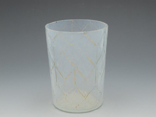 A NEW ENGLAND GLASS OPALESCENT HONEYCOMB TUMBLER