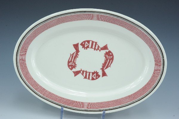 AN AT&SF MIMBRENO PATTERN OVAL PLATTER