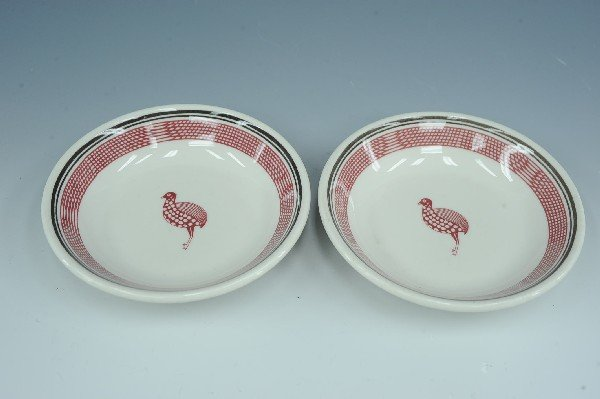 TWO AT&SF MIMBRENO PATTERN  BERRY BOWLS