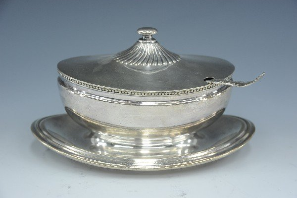 SANTA FE ROUTE REED & BARTON SILVER TUREEN OR GRAVY WIT