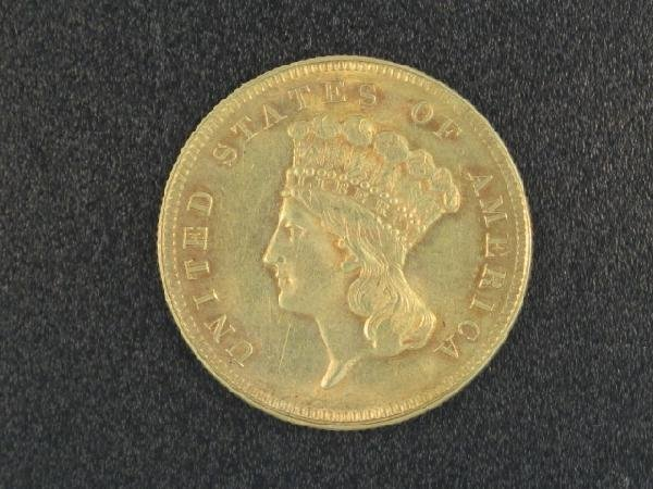 UNITED STATES 1889 $3.00 GOLD COIN