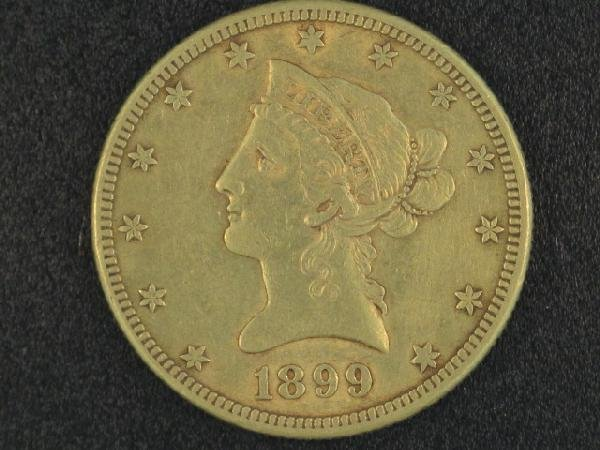 UNITED STATES 1899S $10.00 GOLD COIN