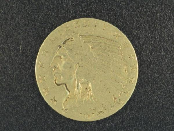 UNITED STATES 1910 $5.00 INDIAN GOLD COIN