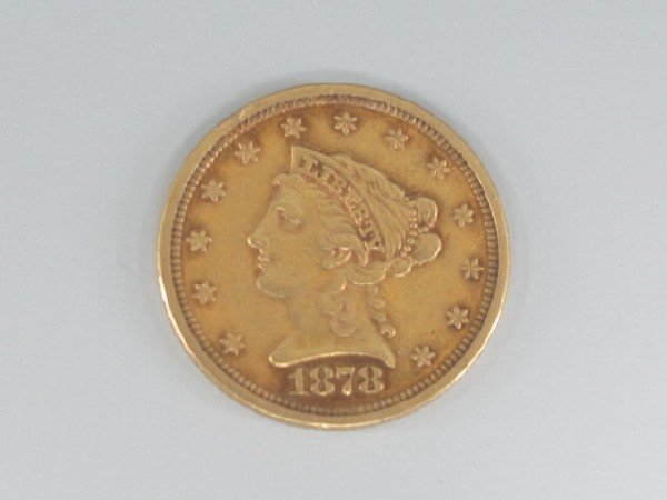 UNITED STATES 1878 $2 1/2 LIBERTY GOLD COIN