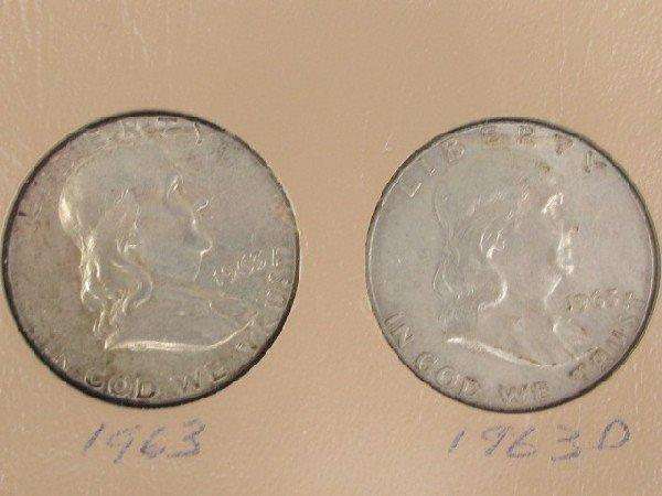 28 UNITED STATES HAL DOLLARS: WALKING LIBERTY & FRANKLI