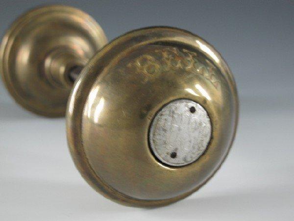 RARE DOOR KNOB W/ PUSH BUTTON BELL, CIRCA 1900