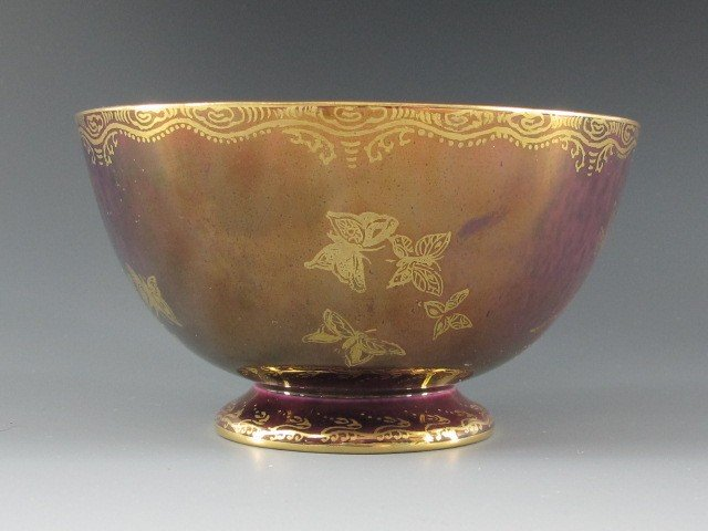 A WEDGWOOD BUTTERFLY LUSTRE FINGER BOWL