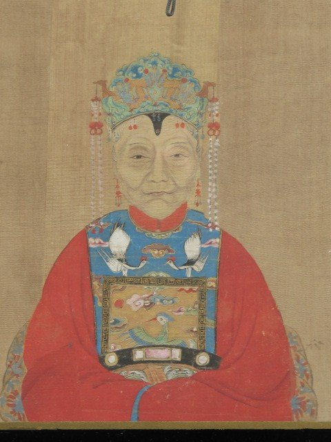 A PAIR OF CHINESE ANCESTOR PORTRAITS - 4