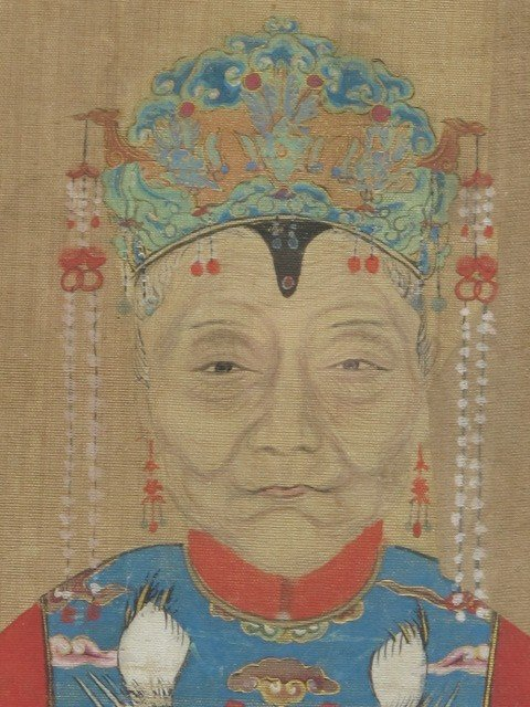 A PAIR OF CHINESE ANCESTOR PORTRAITS - 5