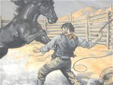108 MONTE CREWS 18881946 ILLUSTRATION OIL ON CANVAS