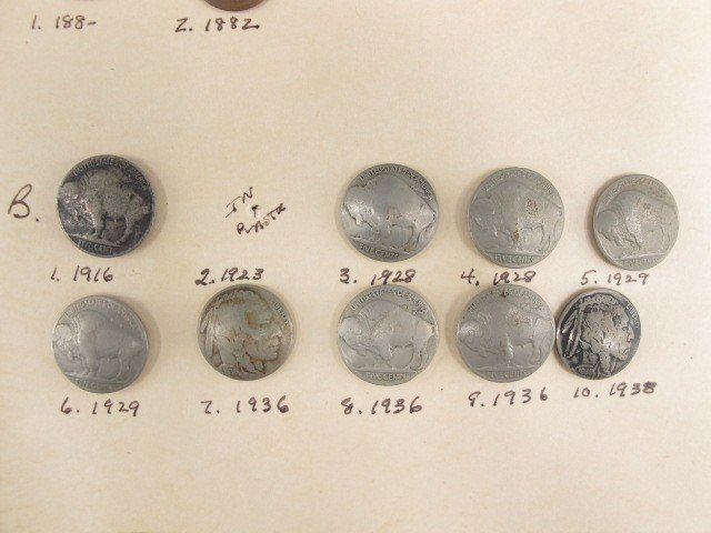 15 NAVAJO 1880'S TO 1940'S COIN BUTTONS