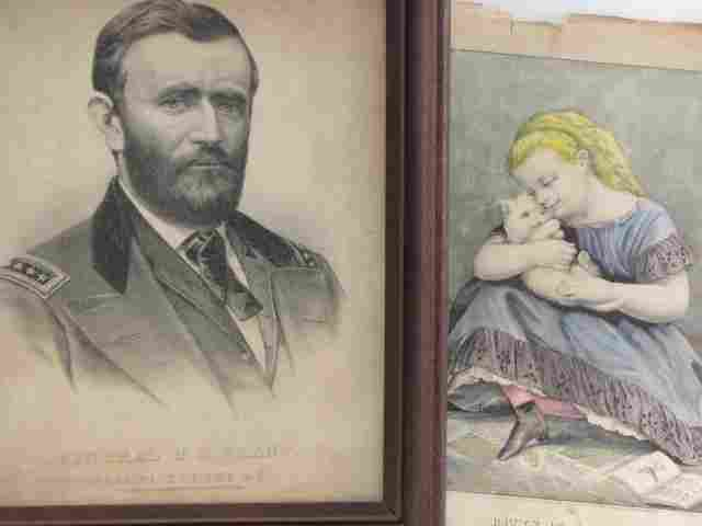 TWO CURRIER AND IVES LITHOS: GEN. GRANT, KITTY IN CLOVE