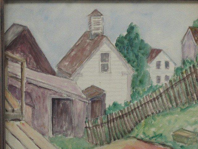 311: ABRAHAM WALKOWITZ WATERCOLOR 1915