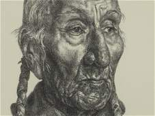 410: CHARLES BANKS WILSON PENCIL SIGNED LITHO