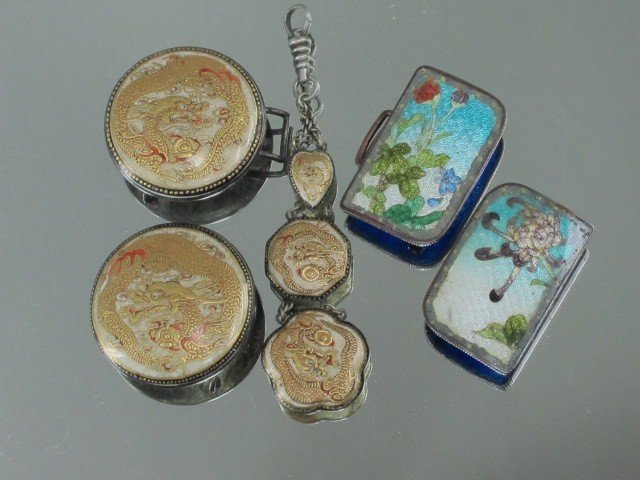 7: TWO JAPANESE BUCKLES: SATSUMA AND CLOISONNE'