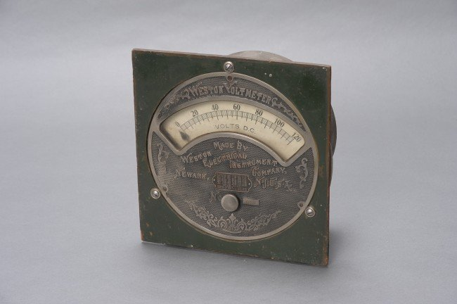 LATE 19TH CENTURY WESTON VOLTMETER NO. 73856