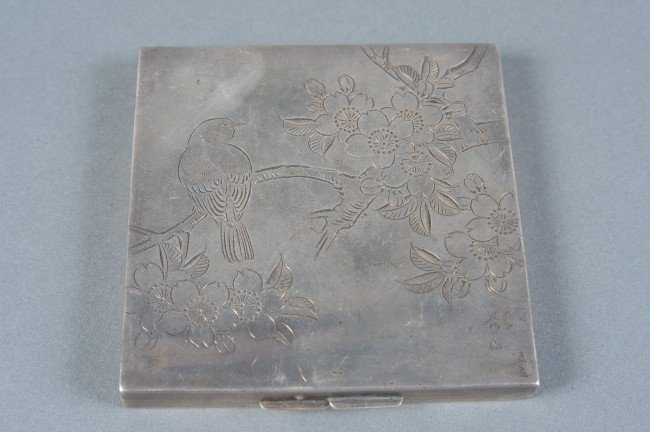 CHINESE EXPORT STERLING SILVER CASE