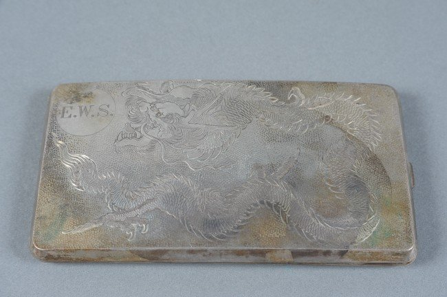 A CHINESE EXPORT SILVER CASE
