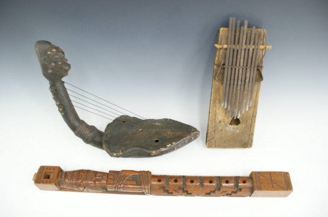 THREE AFRICAN MUSICAL INSTRUMENTS