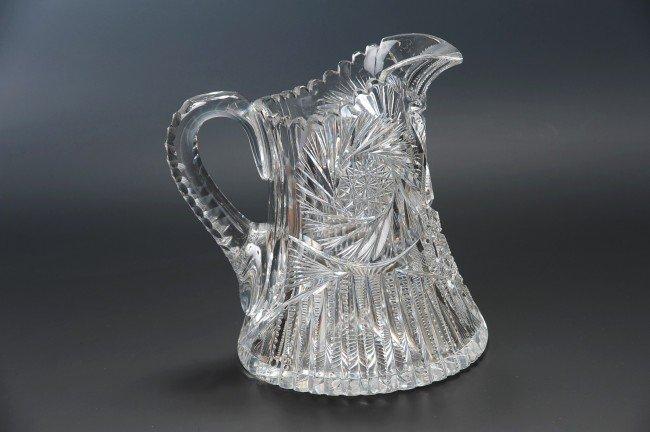 AN AMERICAN BRILLIANT PERIOD CUT GLASS PITCHER