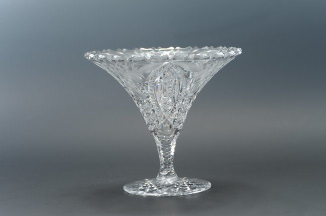ABP CUT GLASS COMPOTE ATTRIBUTED TUTHILL