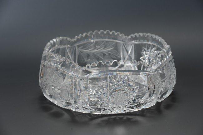 ABP TUTHILL CUT GLASS CENTERPIECE BOWL