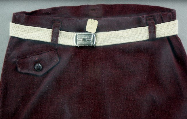 TWO VINTAGE WOOL MEN'S SWIM TRUNKS - 2