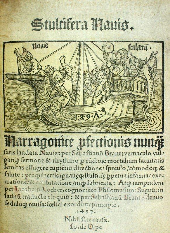 1: BRANDT, SEBASTIAN 'STULTIFERA NAVIS, 1497 (SHIP OF F