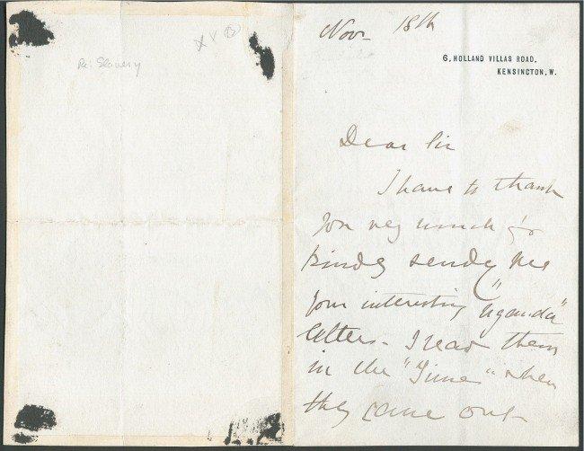 7: INGELOW, JEAN (1820-1897) SIGNED LETTER