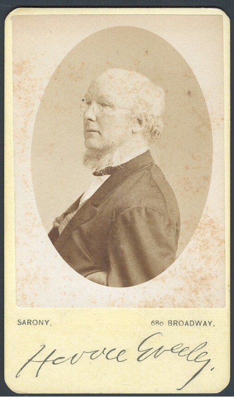11: GREELEY, HORACE (1811-1872) SIGNED PHOTOGRAPH