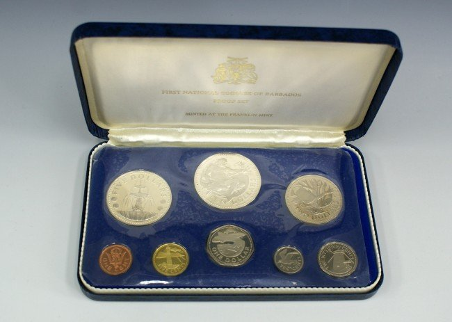 BARBADOS COINAGE PROOF SET FRANKLIN MINT