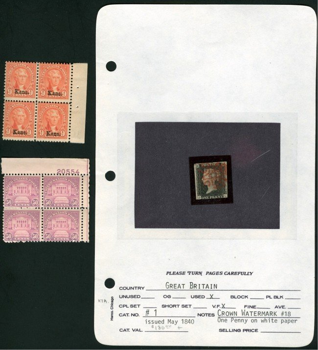 A VICTORIA 1840 PENNY BLACK STAMP