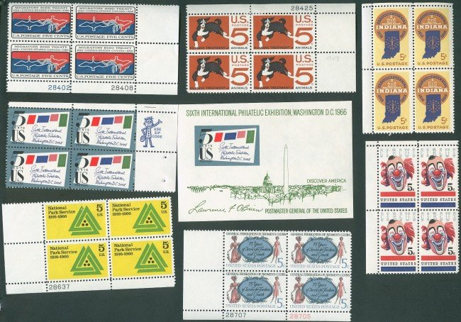 LARGE LOT PLATE BLOCK & SHEET STAMPS