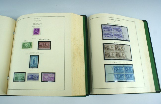 TWO LARGE POSTAGE STAMP ALBUMS