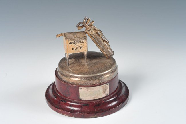 SILVER PLATED BLANK GOLF TOURNAMENT TROPHY